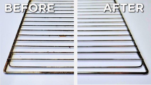روش تمیز کردن توری فر بدون مواد شیمیایی