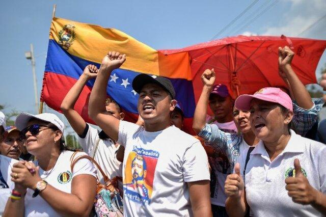 تظاهرات پزشکان و پرستاران ونزوئلایی در مرز با کلمبیا