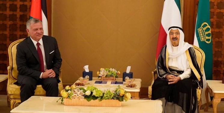 شاه اردن به دیدار امیر کویت رفت