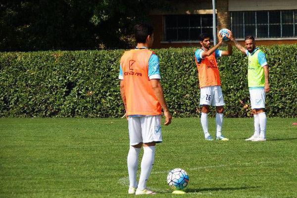 تمرینات دو مرحله ای بازیکنان تیم ملی در اردوی ایتالیا