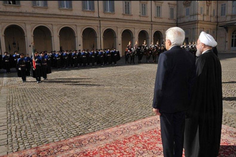 ایتالیایی ها برای استقبال از روحانی سنگ تمام گذاشتند