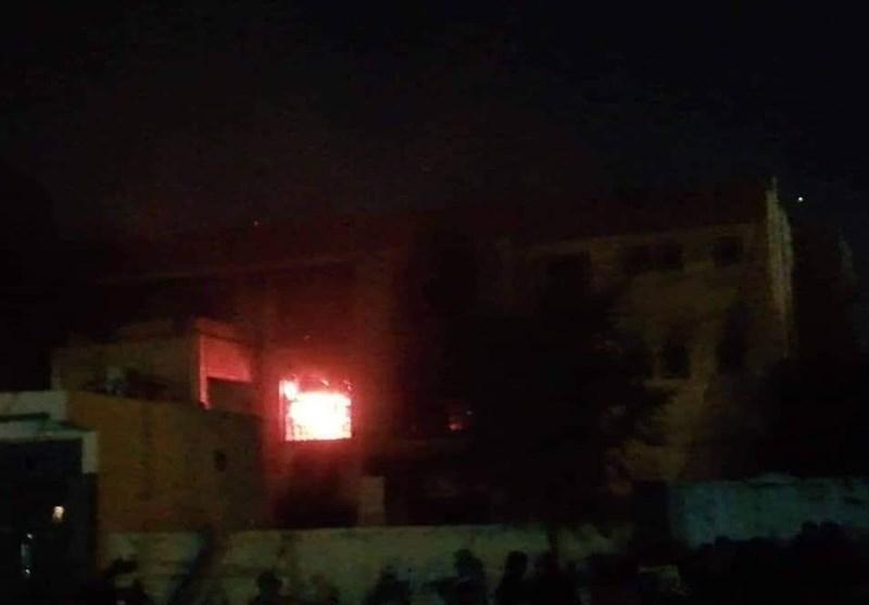 آتش زدن دفاتر احزاب عراق از سوی نفوذی ها