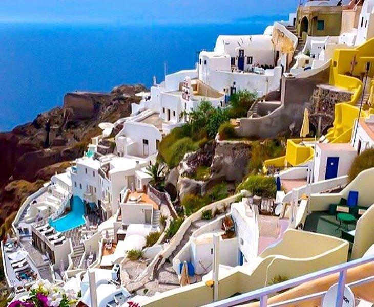 جزیره دراماتیک سنتورینی در یونان