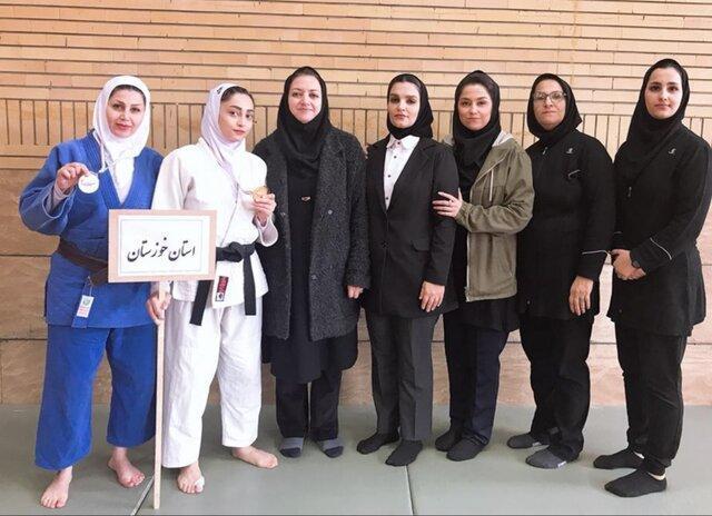 درخشش بانوان خوزستانی در مسابقات جودو کارگری کشور