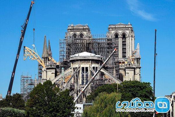 ادامه پروژه بازسازی کلیسای نوتردام زیر سایه کرونا