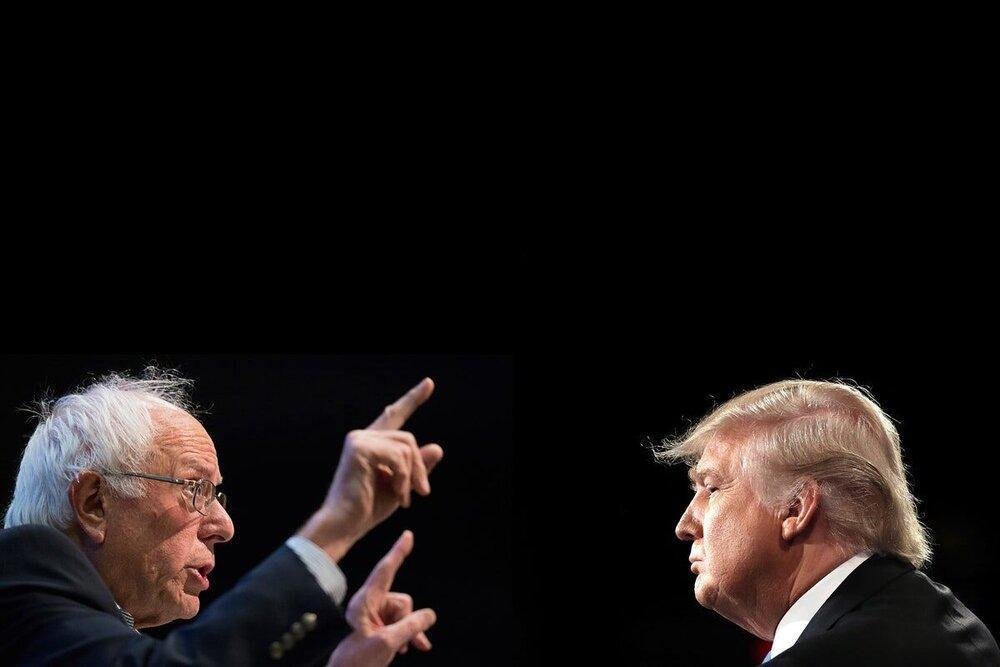 ترامپ حذف سندرز از رقابت ها را پیش بینی کرد