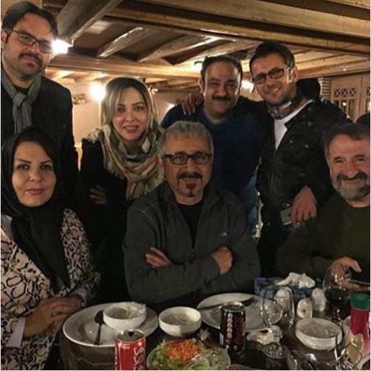 لیلا اوتادی، امین حیایی و مهران غفوریان در شب یلدا