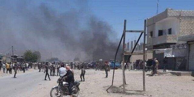 کشته و زخمی شدن تعدادی غیرنظامی در راس العین سوریه، انفجار در مقر نیروهای قسد
