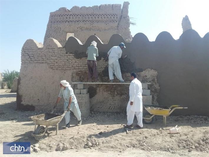 شروع فصل دوم بازسازی قلعه پسکوه در شهرستان سیب و سوران