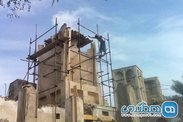 آغاز بازسازی 64 بادگیر در بافت تاریخی بندر کنگ