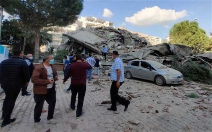 آماده باش جمعیت هلال احمر در پی وقوع زمین لرزه در ازمیر ترکیه