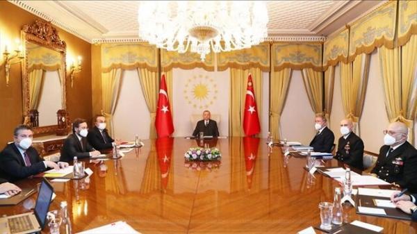 اردوغان با وزیرانش سیاست خارجی ترکیه ازجمله پرونده سوریه را بررسی کرد